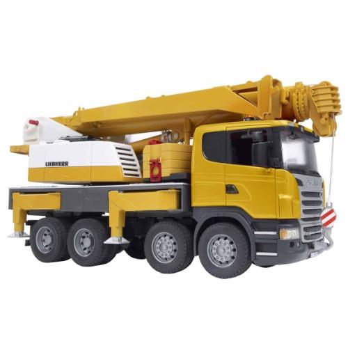 bruder camion scania avec grue liebherr int gr e partir de 4 ans le camion tous les. Black Bedroom Furniture Sets. Home Design Ideas