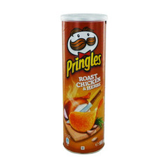 PRINGLES roast chicken & herbs, paquet de 165g