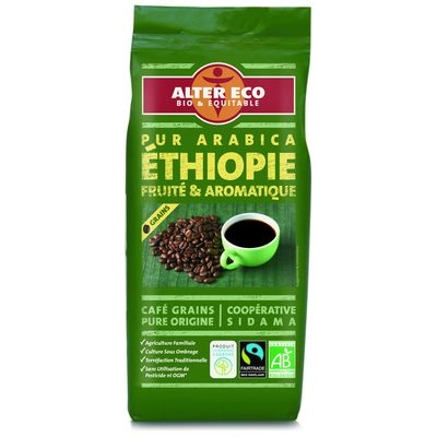 Alter Eco, Cafe grains Ethiopie pur arabica BIO, le paquet de 250 g