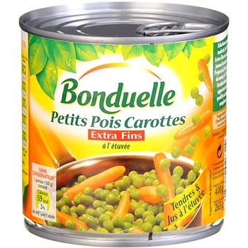 Petits pois carottes extra fins a l 39 etuvee tous les - Cuisiner petit pois en boite ...