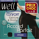 Well collant opaque accord parfait x2 bleu nuit taille 3