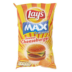 Chips maxi-craquantes cheeseburger Lay's paquet 120g