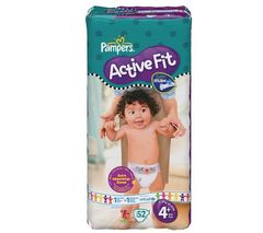 Pampers active fit drugbag maxi change x52