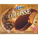 Colosse cafe, creme glacee cafe et enrobage chocolat au lait, 4 x 100ml,400ml