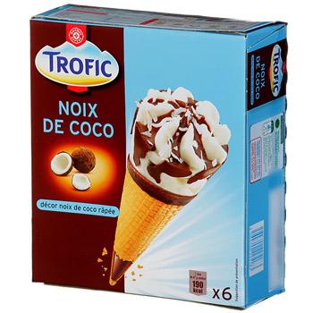 cone trofic noix de coco x6 720ml tous les produits glaces prixing. Black Bedroom Furniture Sets. Home Design Ideas