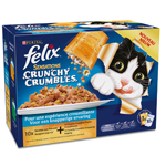 Aliment chat adulte, poissons - Sensations Crunchy Crumbles