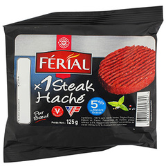 Steak haché Férial, Longpack 5%MG 125g