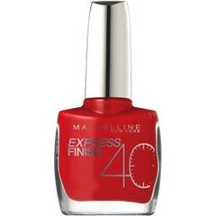 Gemey Maybelline, Express Finish 40' - Vernis a ongles Cerise 30/505, le vernis a ongles