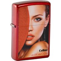 Zippo briquet 2.003.365 rouge, lips celine candy apple (rouge, mM, collection 2013, édition limitée 001/500/500...
