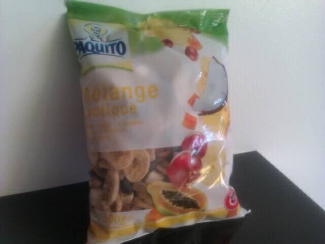 Melange exotique de fruits secs, le sachet de 500g