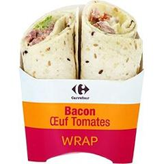 Wrap bacon oeuf tomates