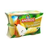 delice de poire william andros 4x100g