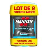 Mennen Déodorant Stick Intraçable 72H Lot de 2
