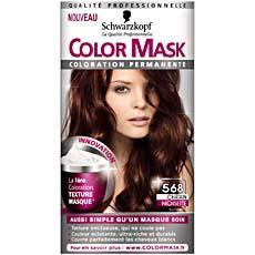 coloration permanente color mask chatain noisette n568 - Coloration Chatain Auburn