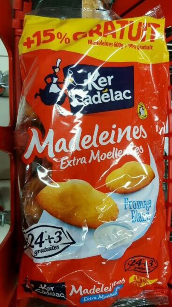 Ker Cadelac Madeleines extra moelleuses fromage blanc le paquet de 600 g