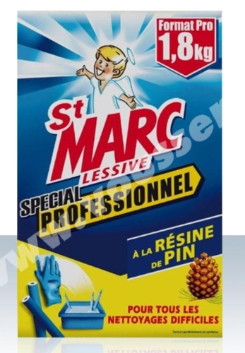 Saint marc lessive a la resine de pin professionnel paquet 1 8 kg tous les produits produit - Lessive saint marc utilisation ...