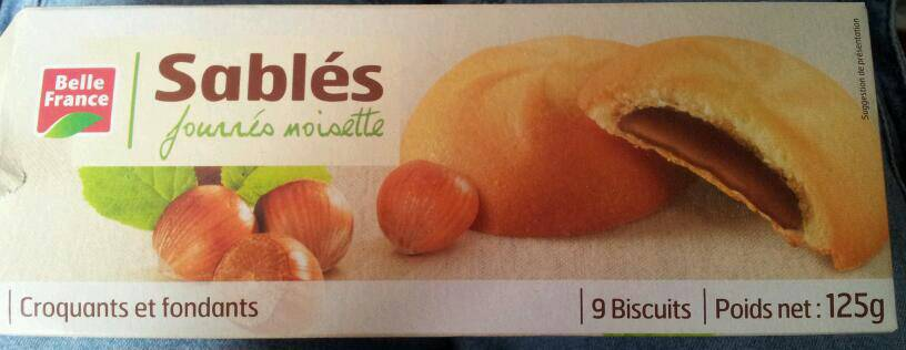 Belle France Biscuits Fourrées Noisette 125 g - Lot de 10