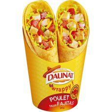 WRAPS DAUNAT BE WRAPPY POULET FACON FAJITAS SAUCE SPICY 190G