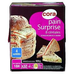 Pain surprise au 8 cereales, 32 parts