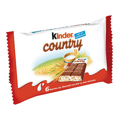 Barres Kinder country x6 141g