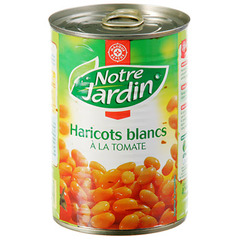 Haricots blancs Notre Jardin Tomate 250g