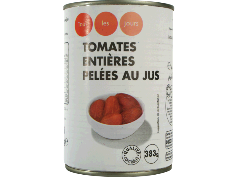 Tomate Entiere Pelee