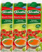 Soupe froide Tomate, Menthe & Basilic