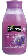Cottage - Douche Gommage Douceur - Le Sucre de Violette - 250 ml - Lot de 3