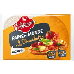 La Boulangère, Pains nature Bruschetta, le paquet de 4 pains - 400 g
