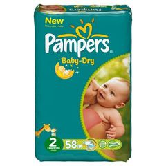 Couches Baby-Dry 3-6 kg Pampers