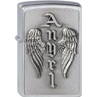 Zippo briquet, Wing of an Angel, 3-D Emblème, Chromé