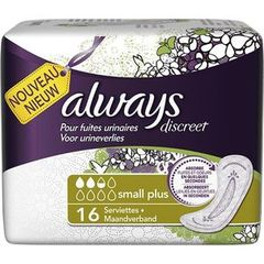 Always incontinence serviette small plus x16