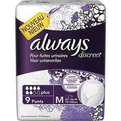 Always discreet incontinence sous vetement plus taille M x9