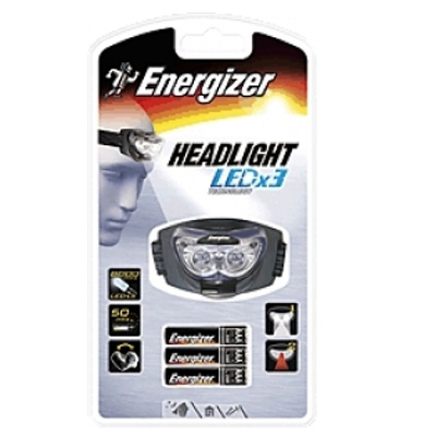 Torche frontale Headlight, 3 led blanches
