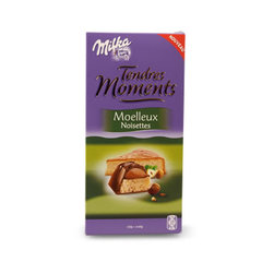Milka tendres moments moelleux noisettes 120g = 2x60g