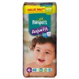 Couches Active Fit maxi PAMPERS, taille 4, 7 a 18kg, 48 unites