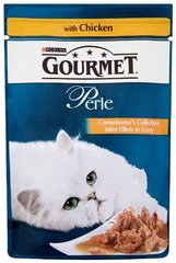 Aliment pour chat Filettines au poulet GOURMET Perle, 85g