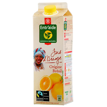 Jus d'orange Entr'aide Commerce equitable 1l