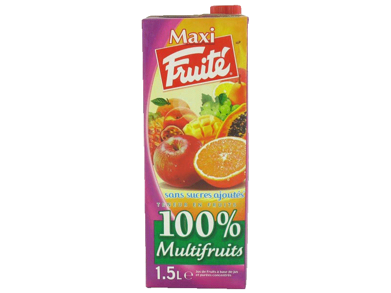 Fruité ABC jus maxi multifruits brique 1l