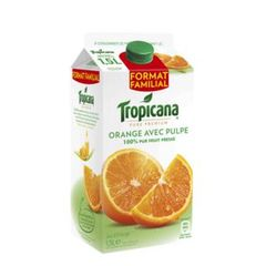 pur jus d'orange avec pulpe tropicana 1,5l