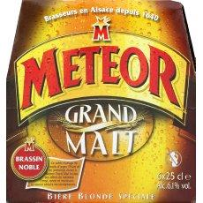 Meteor grand malt biere blonde speciale 6,1°vol 6x25cl