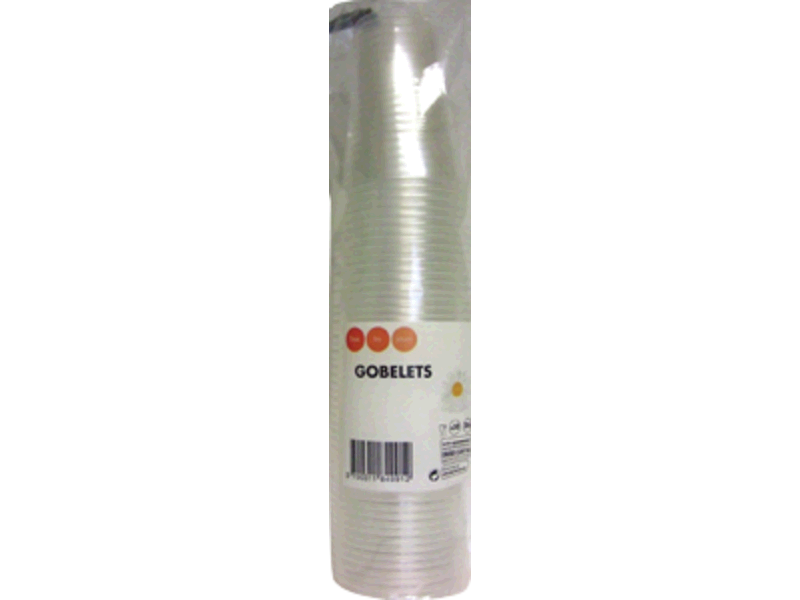 50 Gobelets transparents - 20cl