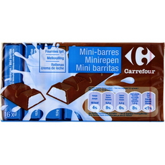 Mini-barres fourrees lait