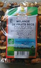 Moulin des Moines Mélange de Fruits Secs Bio 200 g - Lot de 5