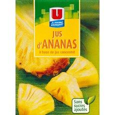 Jus d'ananas a base de concentre U, 20cl