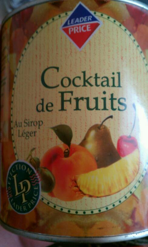 Cocktail de fruits au sirop léger 500g