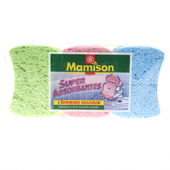 Eponges Mamison couleur Super absorbantes x3