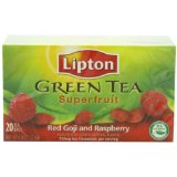 Lipton Green Tea Bags, Superfruit Red Goji with Rasbperry, 20-Count Boxes (Pack of 6), Garden, Maison, Jardin,...
