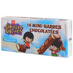 16 mini-barres Copains Copines Chocolatees fourrees lait 200g