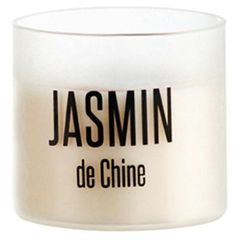 Bougie en pot colore satine au jasmin de Chine